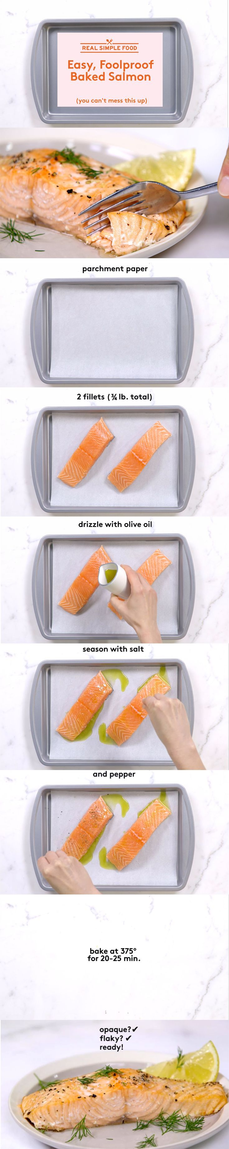 How to Cook Salmon | Salmon is packed full of omega-3 fatty acids (also found in flaxseed, chia seeds, and walnuts), making it a healthy weeknight dinner option for the whole family to enjoy. Intimidated by cooking the fish at home? Even beginners can master this basic technique, which results in perfectly flaky filets every time.