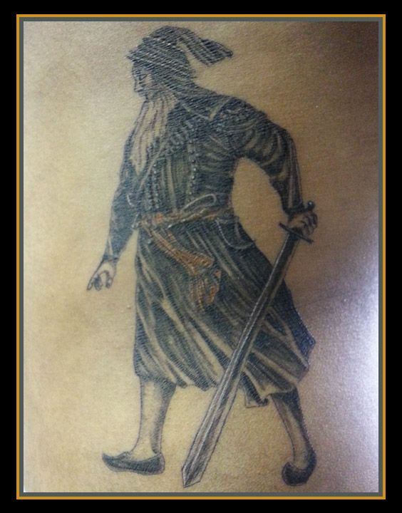 Black Sikh warrior - Dolly's Skin Art Tattoo Kamloops BC