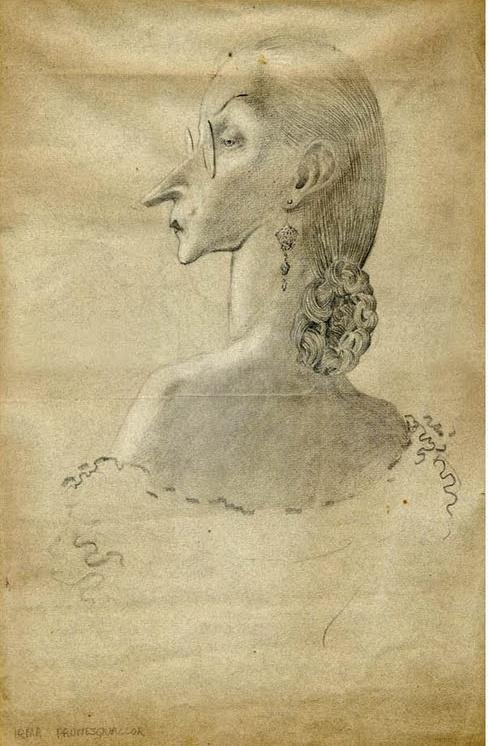 Mervyn Peake. Irma Prunesquallor