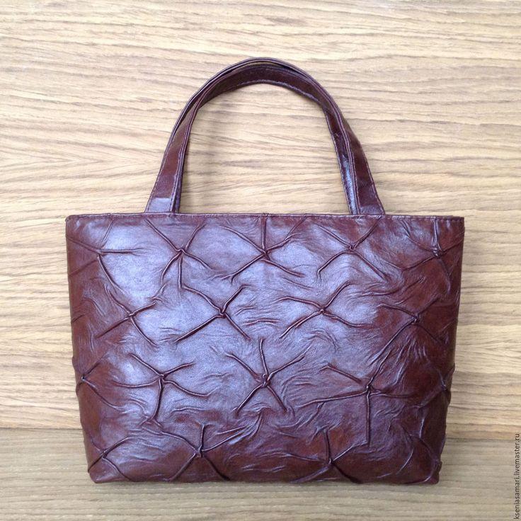 Купить В наличии Сумка из натуральной кожи Vintage - коричневый, сумка кожаная, Кожаная сумка