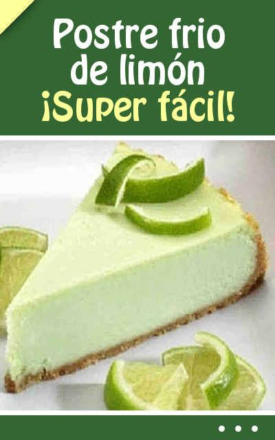 Postre frio de limón. ¡Super fácil!