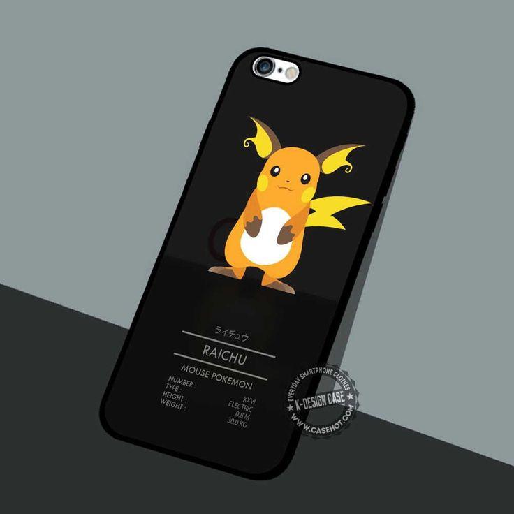 Raicu Mouse Pokemon - iPhone 7 6 5 SE Cases & Covers #cartoon #pokemon