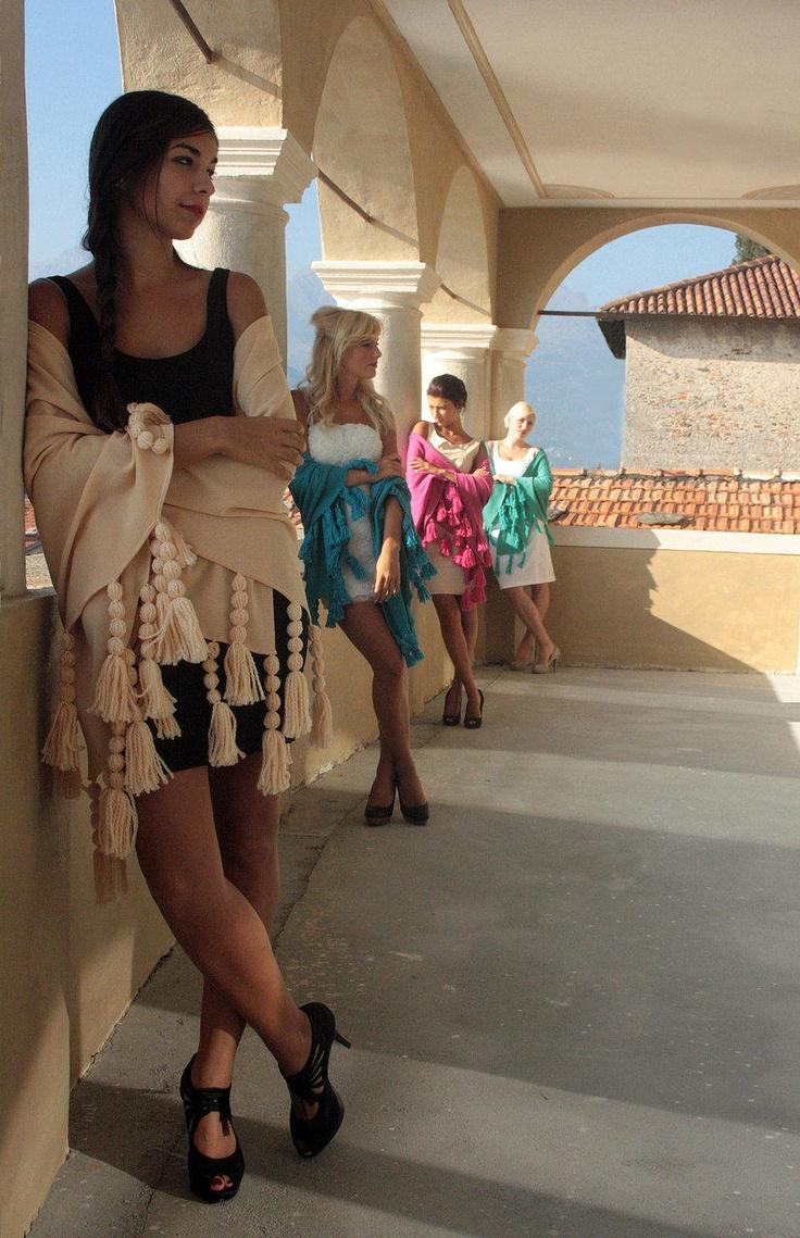 romantic shawls on Como Lake silk #shawl #marinafinzi #shop.marinafinzi.com
