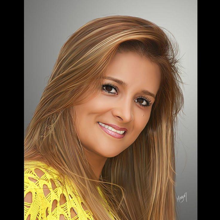 Sandra Puerto. Dibujo digital de Julio César Martinez #magardesign #juliocesarmartinez #dibujo #rostrodigital #fotografiadigital #artedigital #pinturadigital #retratodigital #retratosartisticos #diseñodigital