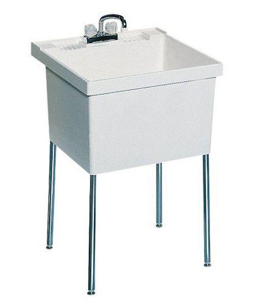 swan single basin floor mount utility sink utility sinks at hayneedle - Laundry Tubs