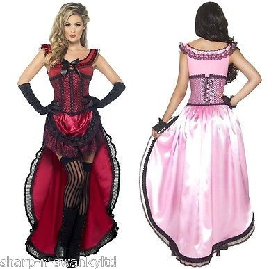 Ladies Saloon Girl Burlesque Brothel Babe Wild West Fancy Dress Costume Outfit in Clothes, Shoes & Accessories, Fancy Dress & Period Costume, Fancy Dress | eBay