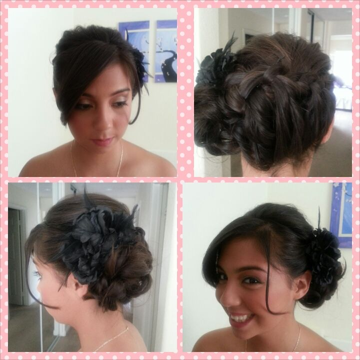 Quick and easy shoulder length updo