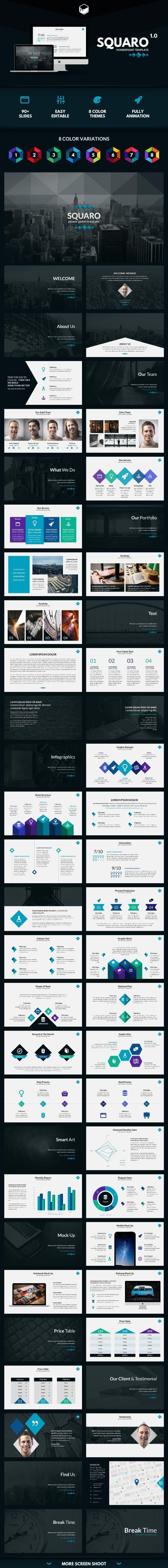 Squaro - PowerPoint Template #presentation Download: http://graphicriver.net/item/squaro-powerpoint-template/11408642?ref=ksioks