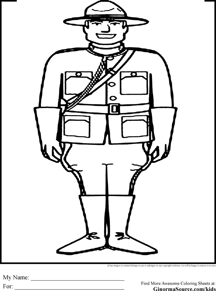 Canada Coloring Pages RCMP