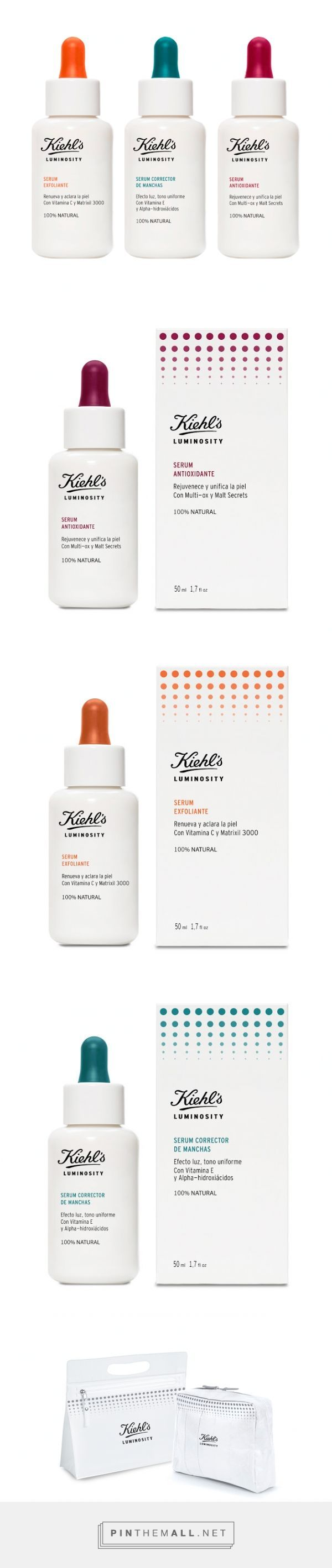 Simplicity is a powerful thing. Kiehl's Luminosity by Silvia Alberti and Corinne Carbonnel