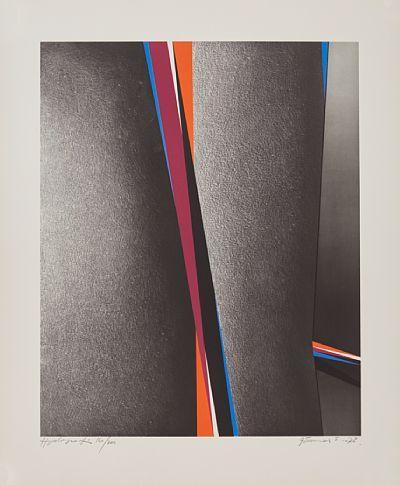 """GUNNAR S. GUNDERSEN FØRDE 1921 - BÆRUM 1983  """"Between"""" 1972 Hyalografi, 160/300, 56x46 cm Signert og datert nede til høyre: Gunnar S. -72"""