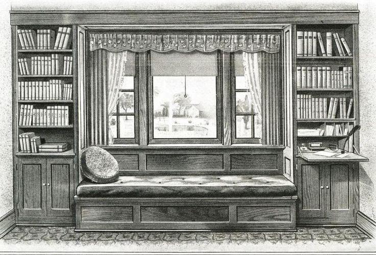 1927 builders woodwork catalog built ins living room for 1920s window