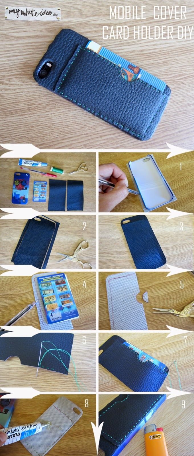 MOBILE COVER CARD HOLDER DIY | MY WHITE IDEA DIY