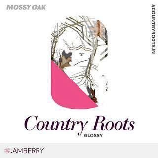 """Are you the outdoorsy type?  Jamberry has collaborated with Mossy Oak to bring you some great """"woodsy"""" looks for your nails! Country Roots wraps mix tree branches with hot pink to create a pretty out-of-doors look for your manicures and pedicures.  These wraps are eligible for Buy 3 and Get 1 Free.  For more great ideas, follow me on Facebook at:  https://www.facebook.com/amysamazingjamaddicts/"""