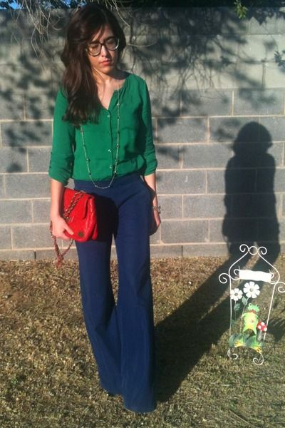 Old Navy top & pants - like the green & blue combo!