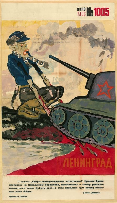 Very interesting Soviet poster from the Winter War with Finland. The Finn si portrayed as a zombie fascist...pin by Paolo Marzioli