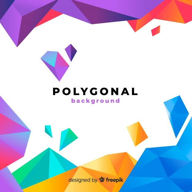 Download Abstract Background With Polygonal Shapes For Free