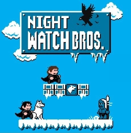 I'd play this...: Nightwatch, Books Jackets, Night Watches, Games Of Thrones, Supermario, Mario Brother, Watches Bros, Super Mario Bros, Game Of Thrones