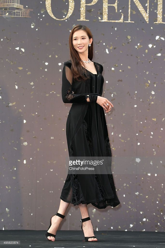 Model and actress Lin Chi-ling attends the opening ceremony of Breeze Center in Xinyi District on November 5, 2015 in Taipei, Taiwan of China.