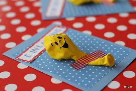 diy: } schnelle einladung für den 3. geburtstag | kindergeburtstag, Einladung