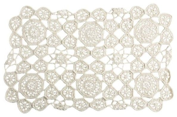 Crochet Placemat Ivory eclectic table linens need! only $5 at kmart