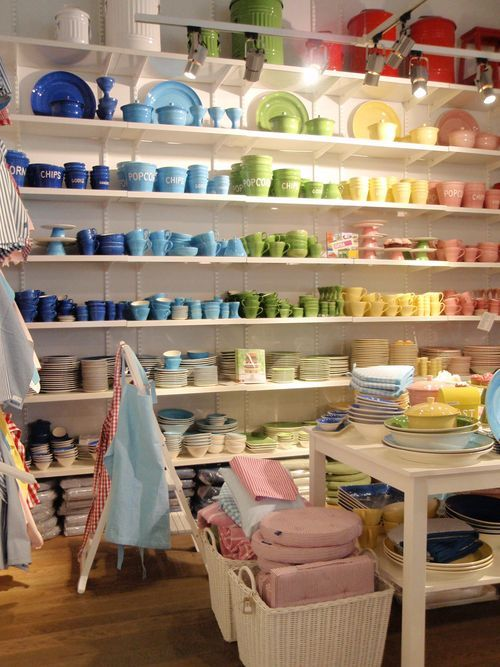 Rainbows of crockery. Bruka Design, Sweden.