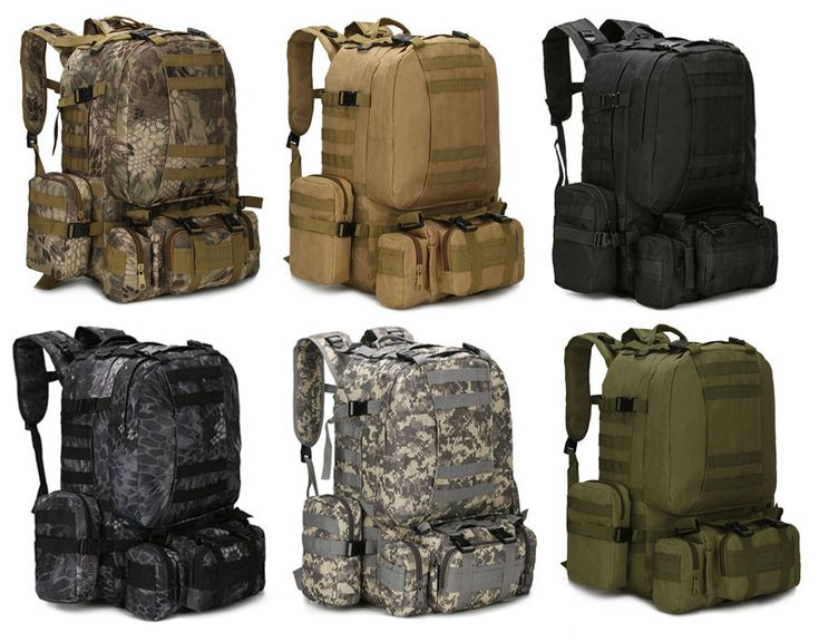 55L Molle Outdoor Military Tactical Bag Camping Hiking Trekking Backpack   | eBay