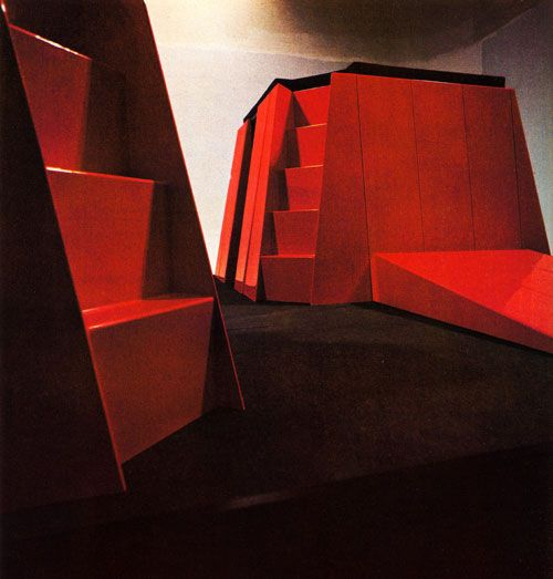 Gae Aulenti, Project for The New Domestic Landscape with Assistance of Kartell and Zanotta, MOMA, 1972