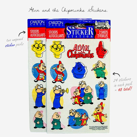 Vintage Alvin & Chipmunks Sticker Packs 1992 Made By Carlton