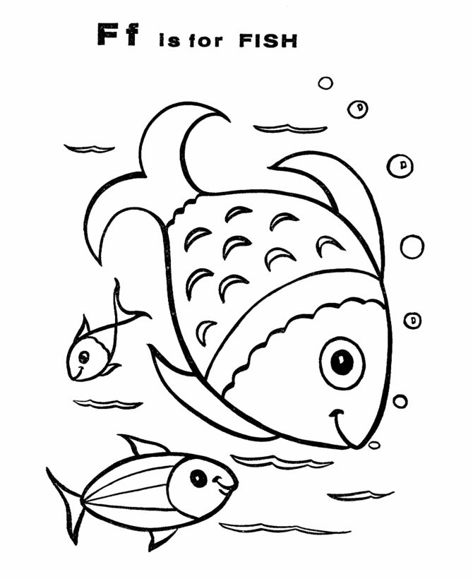 abc coloring sheets letter f is for fish classic alphabet primary coloring activity page sheets