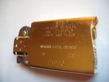 ZIPPO NIAGARA FALLS LIGHTER SLIM GOLD INSERT CANADA 1999 VINTAGE NEW OLD STOCK