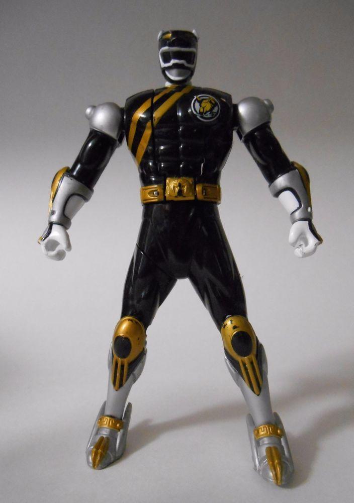 2002 Bandai Power Rangers Wild Force Black Ranger Spin-Morphin Figure 6in. Loose #Bandai
