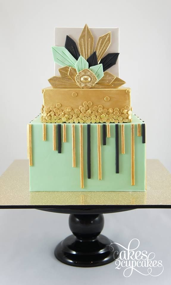 Art Deco Birthday Cake : Cakes 2 Cupcakes, Facebook-Art Deco inspired 30th Birthday ...