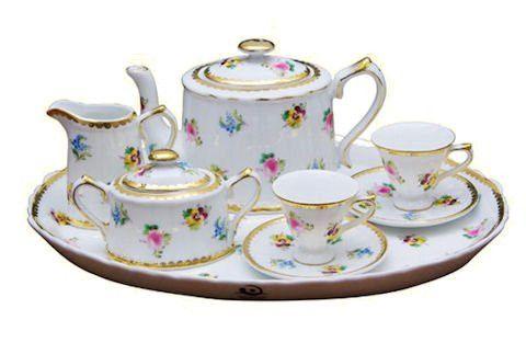 Petite Floral Girls Gift Boxed Tea Set