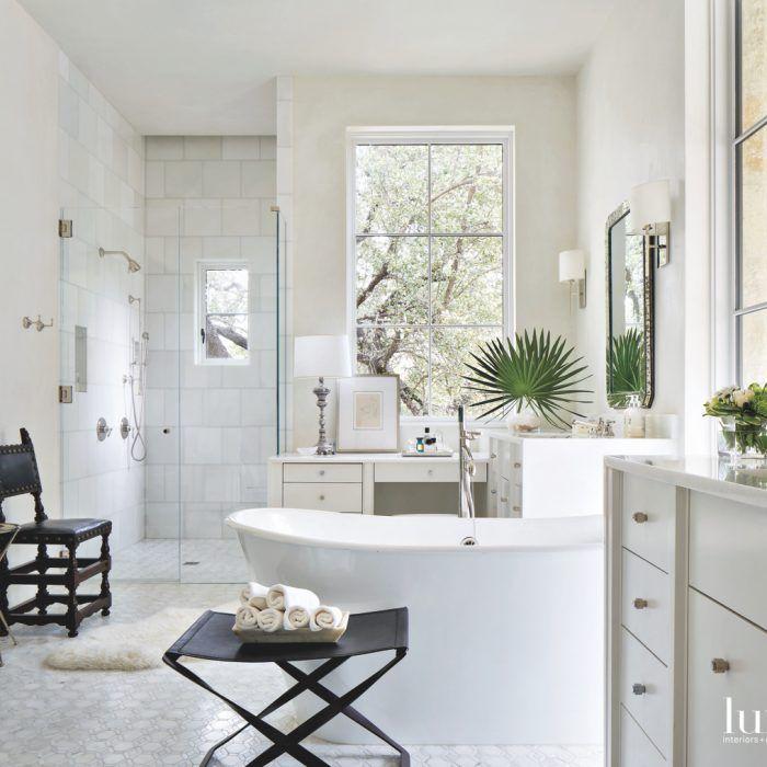 A Cozy Austin Home Exudes Old World Elegance Bathroom Interior