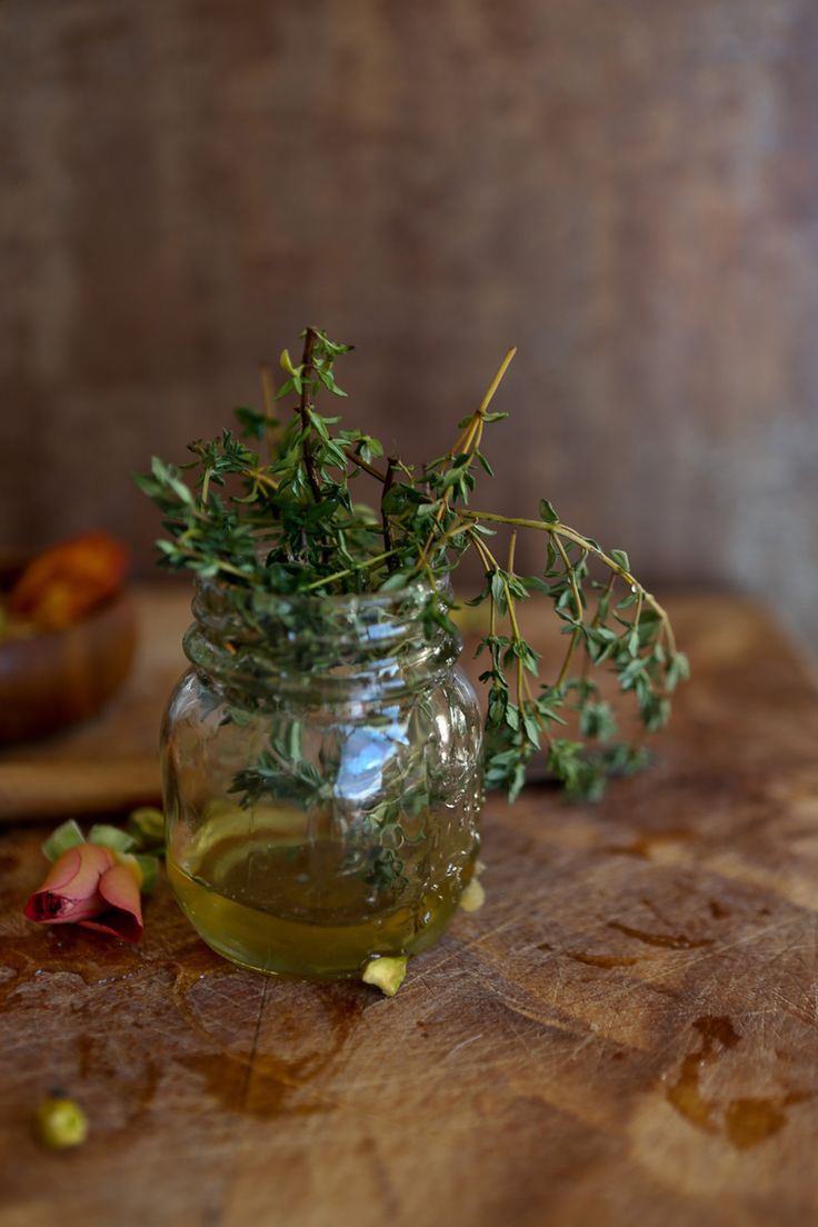 thyme infused honey