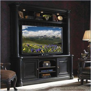 @>  Breckenridge Entertainment Center in Weathered Black