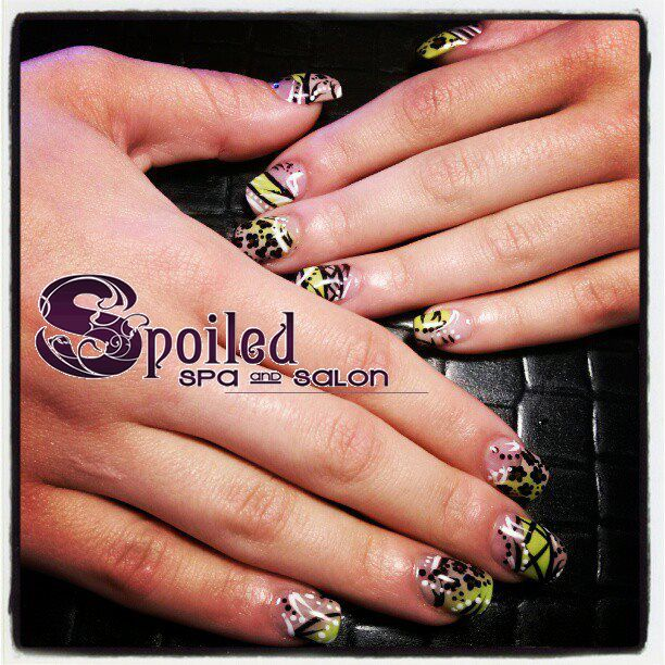 28 best nails images on pinterest spas salons and nail manicure awesome nail art colorful nails created at spoiled spa and salon in vancouver prinsesfo Image collections