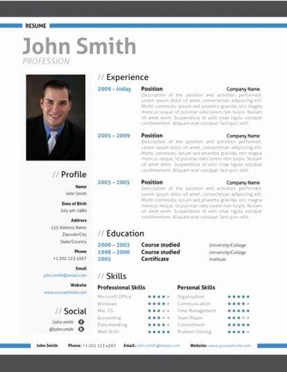 Resume Format Modern Resume Format Pinterest Resume, Resume