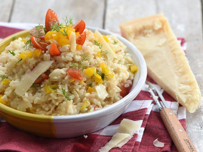 Découvrez la recette Risotto aux poivron jaune et tomates cerise sur cuisineactuelle.fr.