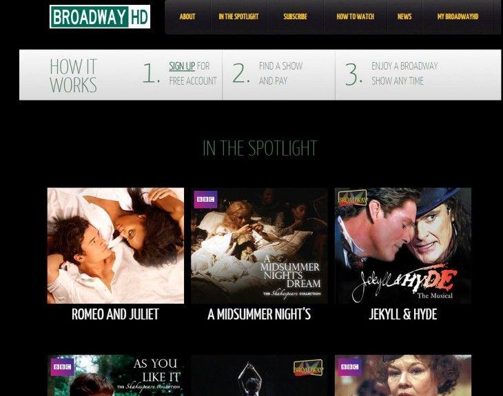 ONE: BroadwayHD, sitio para ver espectáculos de Broadway desde Internet