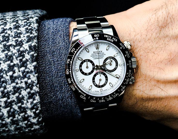 Rolex Daytona White dial.