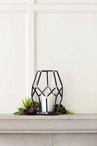 Open Design Candle Holder w/Glass