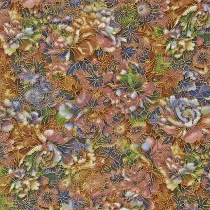Robert Kaufman Fabrics: ETJM-12573-235 HYACINTH from Imperial Fusions® Collection: Katsumi
