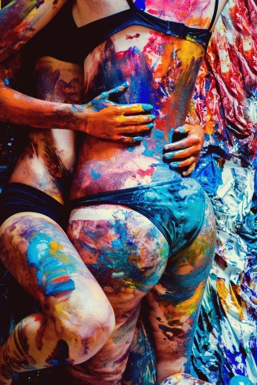 Body paint eachother #couplethings
