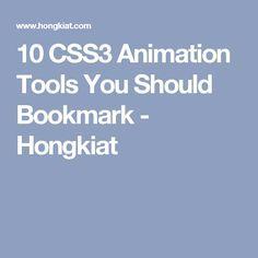 10 CSS3 Animation Tools You Should Bookmark - Hongkiat