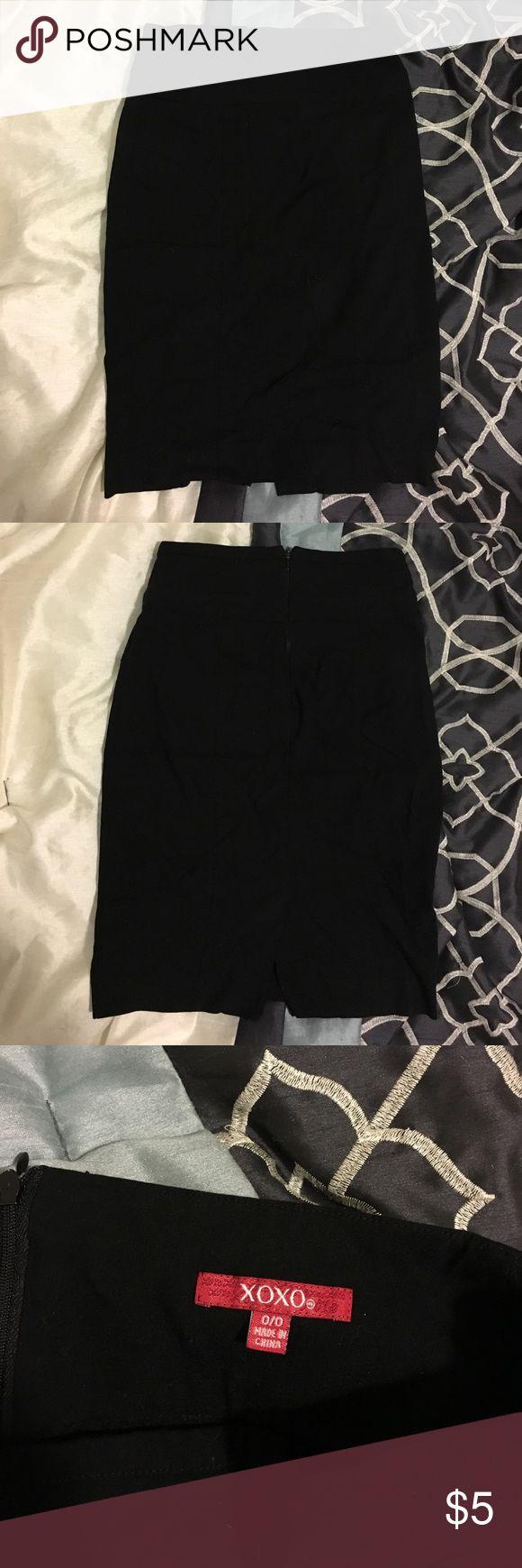 Black Pencil Skirt Professional looking, sleek, black pencil skirt. Only worn once. XOXO Skirts Pencil