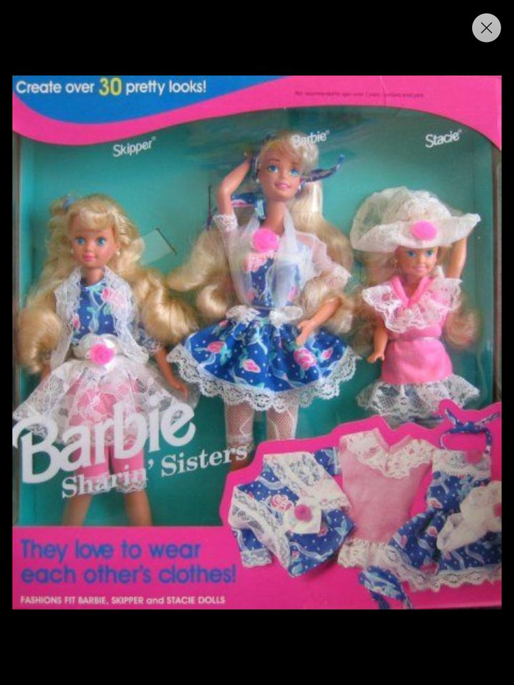 Image result for Sharin' Sisters Barbie/Skipper/Stacie Giftset (1992)