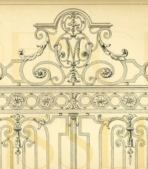 french iron fence