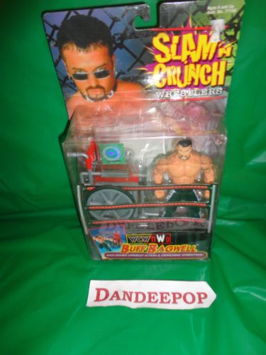 New Slam N Crunch Wrestler WCW/NCO Buff Bagwell w/ Crunching Wheelchair 1999 Toy find me at www.dandeepop.com